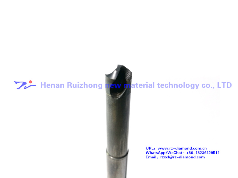 Super hard drill and milling cutter bar (with grooves)
