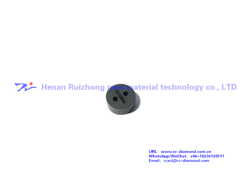 Diamond dual hole wear-resisting valve core